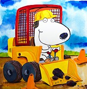 Hallmark Art - Construction Dogs by Scott Nelson