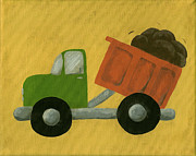 Dump Prints - Construction Dump Truck Nursery Art Print by Katie Carlsruh