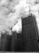 Cabin Window Photos - Construction of High-Rise Apartments by Yali Shi