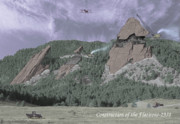 Hand Tinted Posters - Construction of the Flatirons - 1931 Poster by Jerry McElroy