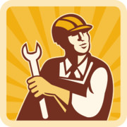 Worker Digital Art Posters - Construction worker engineer Poster by Aloysius Patrimonio