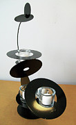 Black Sculpture Originals - Constructivist Candle Holder Model C v2 by John Gibbs