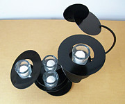 Black Sculpture Originals - Constructivist Candle Holder Model C v4 by John Gibbs