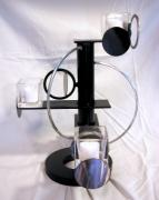 Featured Sculptures - Constructivist Candle Holder Model two view three by John Gibbs