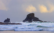 Storm Metal Prints - Consumed by the Sea Metal Print by Mike  Dawson