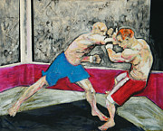 Boxer Mixed Media Framed Prints - Contact Framed Print by John Keasler