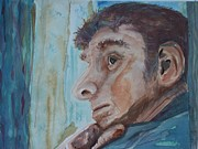 Deep In Thought Paintings - Contemplation by Barbara McGeachen