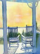 Rocking Chairs Framed Prints - Contemplation Framed Print by Elise Ritter