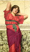 Dart Paintings - Contemplation by John William Godward