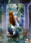 Forest Digital Art - Contemplation by Karen Koski