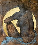 Nude Mixed Media Posters - Contemplation Poster by Richard Hoedl