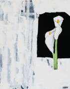 Calla Lily Paintings - Contemporary Calla Lily by Marsha Heiken