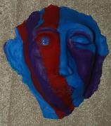 African American Sculptures - Contemporary Mask by Aldonia Bailey