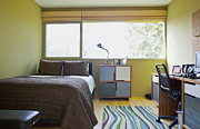Showcase-interior Prints - Contemporary Teenage Bedroom Print by Inti St. Clair