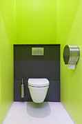 Toilet Bowl Framed Prints - Contemporary Toilet Framed Print by Jaak Nilson