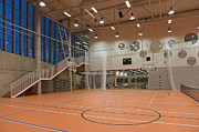 Basketball Sports Prints - Contemporary University Sports Club Interior Print by Jaak Nilson
