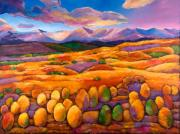 Purples Paintings - Contentment by Johnathan Harris