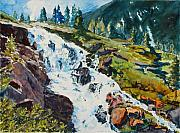 Loveland Artist Prints - Continental Falls Print by Mary Benke