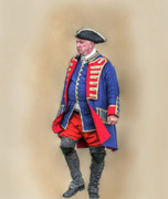 Revolutionary War Digital Art Prints - Continental Officer American Revolution Print by Randy Steele