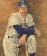Joe Dimaggio Baseball Cards Art - Continuity of Greatness by Robert Casilla
