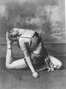 Mid Adult Women Metal Prints - Contortionist Metal Print by General Photographic Agency