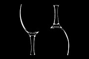 Wine Glasses Prints - Contour Print by Gert Lavsen