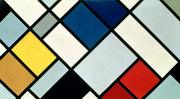 Cubism Paintings - ContraComposition of Dissonances by Theo van Doesburg