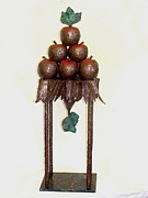 Apple Sculpture Originals - Contrap Posto by Al Goldfarb