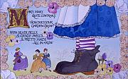 Nursery Rhyme Paintings - Contrary Mary by Victoria Heryet