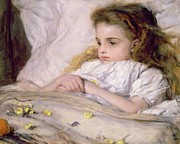 Sickness Painting Prints - Convalescent Print by Frank Holl