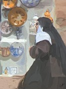 Plates Paintings - Convent Bound by Patti Siehien