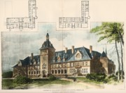 Mercy Painting Prints - Convent of the Sisters of Mercy. Cresson PA. 1896 Print by Longfellow and Alden and Harlow