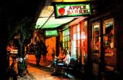 New Orleans Digital Art - Conversation at the Apple Barrel  2010 by Wayne Archer