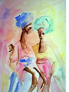 Bonding Painting Originals - Conversation of Three by Etim Ekpenyong