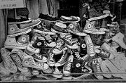 Allstar Metal Prints - Converse running shoes Metal Print by Helen  Bobis