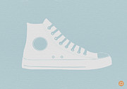 Midcentury Digital Art Framed Prints - Converse Shoe Framed Print by Irina  March