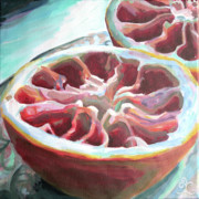 Grapefruit Painting Prints - Conversion Print by Trina Teele