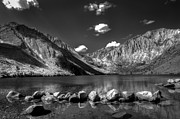 Black And White Art - Convict Lake near Mammoth Lakes California by Scott McGuire