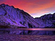 Laurel Posters - Convict Lake Sunset Poster by Scott McGuire