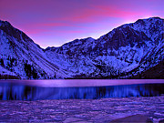 Winter Sunset Posters - Convict Lake Winter Sunset Poster by Scott McGuire
