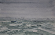 North Sea Paintings - Convoy by Rob Hemphill