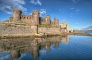 Historic Fortress Digital Art Prints - Conwy Castle Print by Adrian Evans
