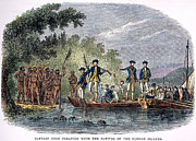 1770s Prints - COOK: SAMOAN NATIVES, 1770s Print by Granger