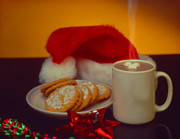 Santa Claus Posters - Cookie For Santa Poster by Jerry Taliaferro