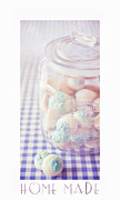 Blue Jar Framed Prints - Cookie Jar Framed Print by Priska Wettstein