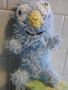 Stuffed Animal Toys Tapestries - Textiles - Cookie Monster by Sarah Biondo