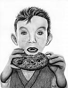 Surprise Drawings Prints - Cookie Surprise  Print by Peter Piatt
