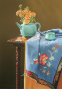 Oriental Teapot Prints - Cookies Fortune Print by Barbara Groff