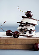 People On Ice Photos - Cookies With Ice Cream And Cherries by Cultura/Line Klein