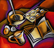 Women Together Painting Metal Prints - Cooking Metal Print by Leon Zernitsky